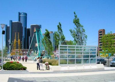 Detroit Riverfront Conservancy | Feature Map for Cullen Plaza