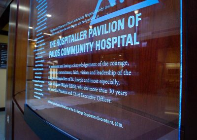 Palos Hospital | Dedication Wall